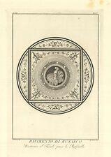 MITOLOGIA mosaico pavimento divinità dea Minerva  Roma villa Tuscolana