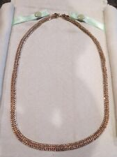 """14 KARAT YELLOW GOLD DOUBLE - ROW LINK 18"""" NECKLACE = NEW = NEVER WORN ="""