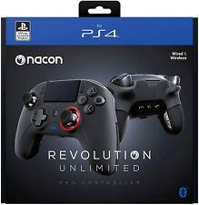 Nacon Revolución Ilimitado Pro PS4 Controlador Inalámbrico Negro (Wireless/Wired)