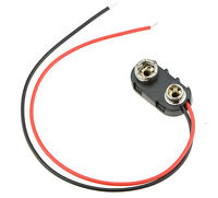 PP3 9V Battery Connector Clip Tinned Wire Leads 150mm