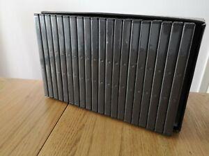 NEW! 20 x Empty Blank Single CD DVD Cases Black
