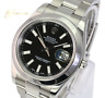 Authentic Rolex Datejust Mens II 116300 Black  Index  Dial Smooth Bezel 41mm