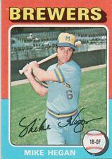 1975 Topps Mini #99 Mike Hegan Milwaukee Brewers (2018-0732)