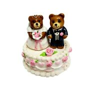 Wee Forest Folk WEDDING BEARS Cake 1987 T-09 Donna Petersen Peterson Handmade