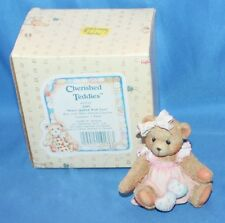 Cherished Teddies Amy Hearts Quilted With Love Figurine # 910732 1992 By Enesco