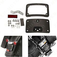 Black Curved License Plate Mount Harley softail springer FLSTSC Deluxe FLSTN