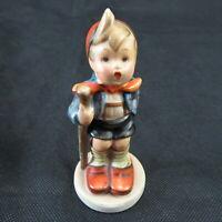 "hummel goebel vintage tmk 2 ""little hiker"" boy full bee porcelain figurine 4.5"""
