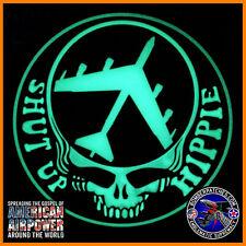 Shut Up Hippie B-52 Stratofortress Glow in the Dark PVC Morale Patch Black White