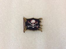 Skull and Crossbones Black Flag Pirate Embroidered Patch Licensed New