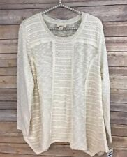 NWT Style & Co Womens XL Cream Long Sleeve Sweater