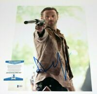 ANDREW LINCOLN SIGNED 11x14 PHOTO BECKETT BAS COA F THE WALKING DEAD RICK GRIMES
