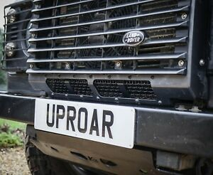 Land Rover Defender Stainless Steel Lower Grille / Splitter - Uproar 4x4