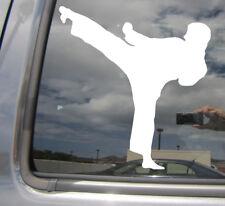 Karate Kick - Martial Arts Shotokan Kempo Auto Window Vinyl Decal Sticker 04038