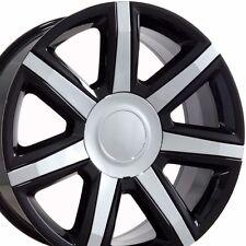 "22"" 2015 Cadillac - Escalade Premium Style Wheels - Gloss Black w/ Chrome Rims"