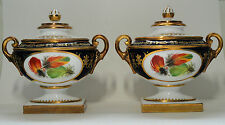 2008 Pair Royal Worcester Signed Heritage Collection Gilded Lidded Vases Peplow