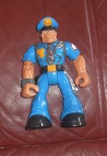 Fisher Price Rescue Heroes Figure Sergeant Siren Police Officer