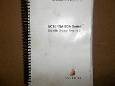 Acterna Manual SDA Series Stealth Digital Analyzer Operaterion Manual book