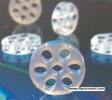 """2X honeycomb glass screens 2mm thick (8mm size) .313"""" fits in pipe or vape"""