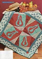 Dancing Pears Quilt Pattern Pieced/Applique DK