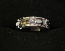 Silver Plated 5mm Spinner Ring Size 9.5 SP1