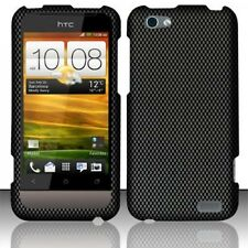 For Virgin Mobile HTC ONE V HARD Case Snap On Phone Cover Carbon Fiber
