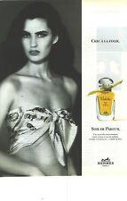 PUBLICITE ADVERTISING 1992 HERMES parfum chic à la folie, soie de parfum CALECHE