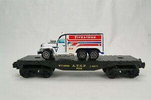 Lionel 9022 ATSF Flat Car Hot Wheels Firestone Hauler
