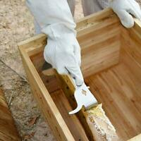 Stainless Steel Polished Bee Hive Hook Scraper Beekeeping Pry Supplies Tool T9D0
