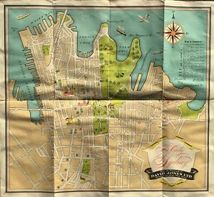 """""""THE CITY OF SYDNEY"""", With the Compliments of DAVID JONES LTD, 1944."""