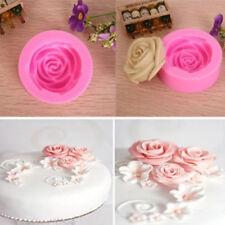 3D Rose Flower Cake Decor Cutter Mold Choclate Fondant Baking Mould Kitchen Kits