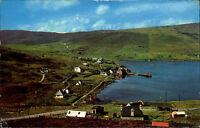 Voe Shetland Color Postkarte 1975 Gesamtansicht Panorama Häuser Wiesen Felder
