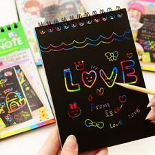 Scratch Paper Notes Kawaii Memo Pads Kids Rainbow Colorful A