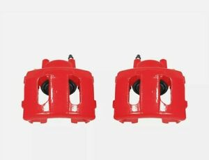 *NEW* Power Stop S4339 Performance Front Brake Calipers Powder Coated Red Pair