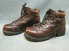 HARLEY-DAVIDSON Women's  Brown Leather Motorcycle Boots 84282 Sz 5.5