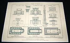 Restoration of Solomon's Temple-Architectural Dessin Copie-No 2-Circa 1896