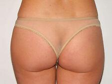 Tanga Slip Höschen Panty unisex HAUT beige Hauch von Nichts sheer transparent