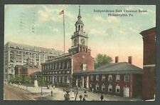Postly Used 1915 Post Card Independence Hall Chestnut st Philadelphia Pa