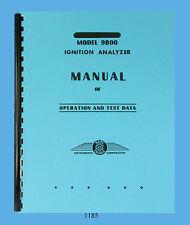 Merc-O-Tronic Magneto Tester Model 9800 Operation-Data Manual Latest Revision