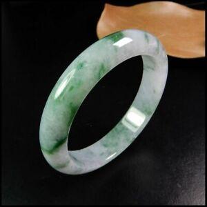 【KOOJADE】Emerald Floral Jadeite Jade Bangle Bracelet《54~56.4mm》《Grade A》