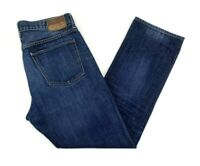 J Crew Mens Kaihara Japanese Denim Jeans 1040 34x30 Straight Leg Dark Wash