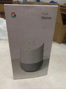 Google Home Smart Assistant Voice-activated Speaker white/slate - BNIB