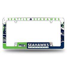 Seattle Seahawks Chrome ALL OVER Premium License Plate Frame Cover Truck Car