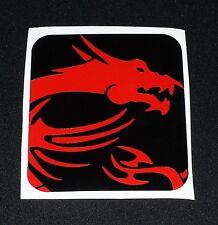 "3.50"" MSI Dragon Vinyl Decal Sticker Computer Pc Laptop Case Mod"
