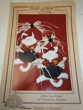 Vtg 80s Piira Print Pampered Kitty Sewing Pattern Blanket Cat Carrier Catnip Toy