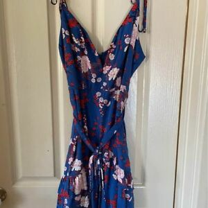 Here Comes the Sun Blue Floral Dress Size 8 - NWOT