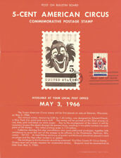 #1309 5c American Circus Stamp Poster- Unofficial Souvenir Page FD MC