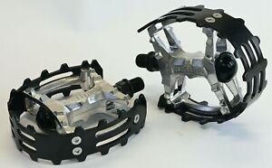 "Old School BMX Beartrap Pedals Black - 1/2"" for 1 piece cranks"