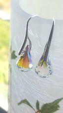 Handmade Swarovski Crystal Rain Drop Earrings-Crystal AB