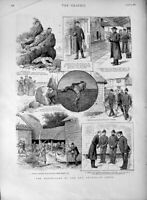 Old Antique Print 1889 Rev. Archibald Jones Adventures Policemen Street 19th