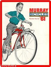 1961 Murray Bicycle  Advertising Refrigerator / Tool Box Magnet